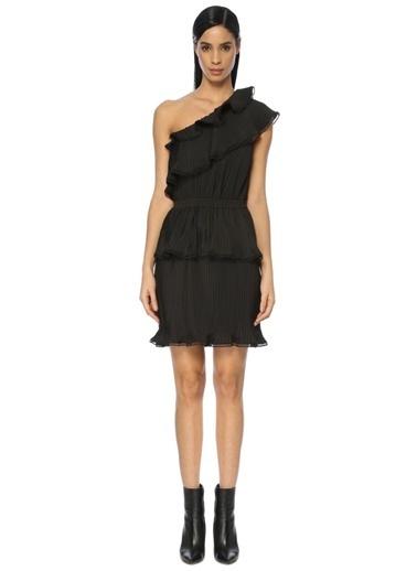 Designers Remix Kısa Abiye Elbise Siyah